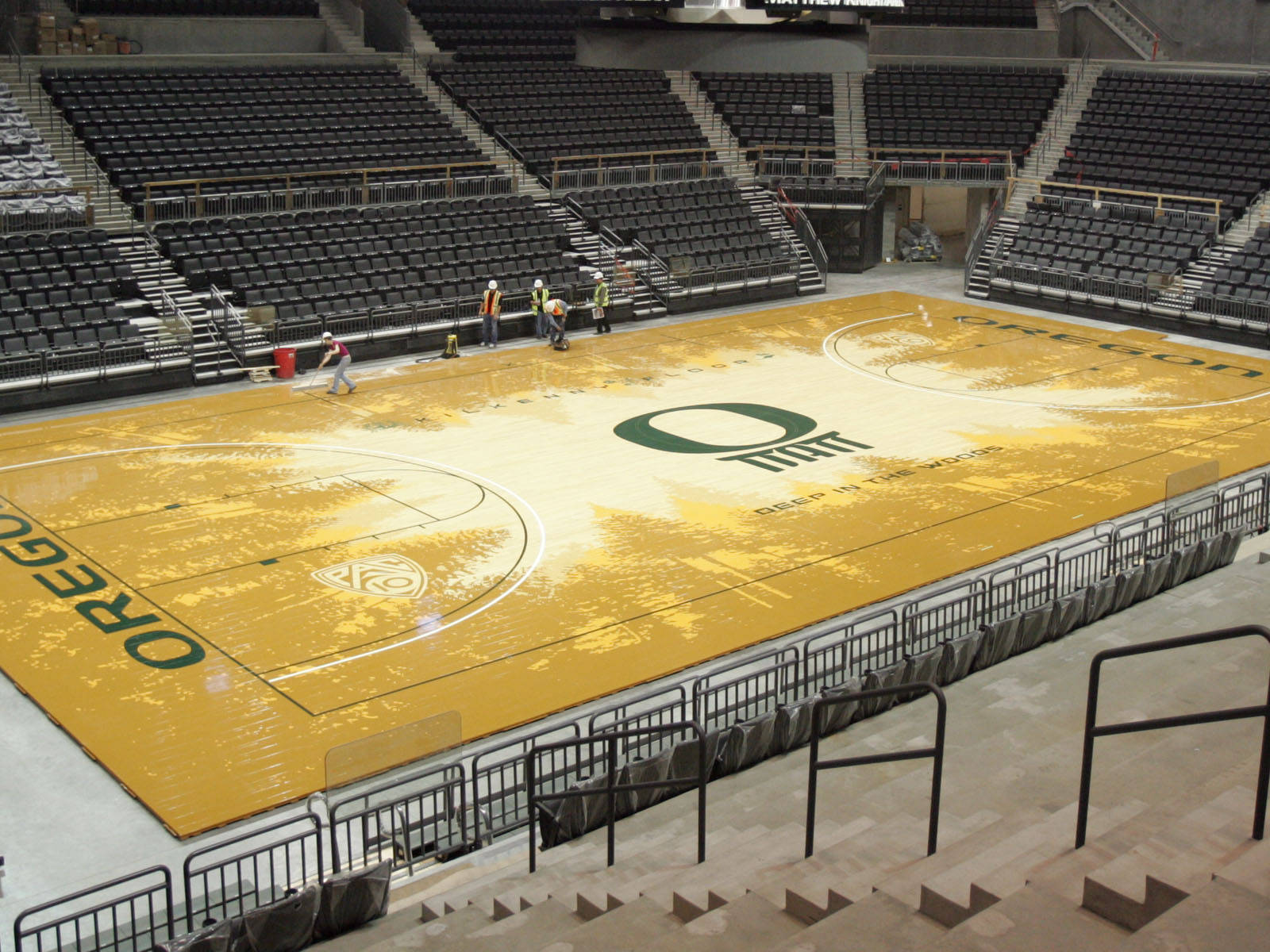 Oregon Athletics Unveils Matt Arena Floor University Of Oregon Athletics